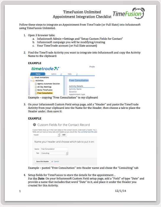 Appointment Integration Checklist thumb